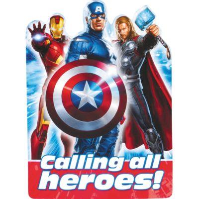 Blue Avengers Invitations
