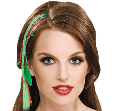 Christmas Feather Hair Extension