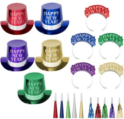 Kit For 10 - Midnight Elegance - Colorful New Year's Party Kit