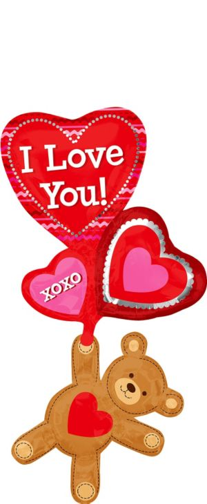 Foil Love Bear Valentines Day Balloon