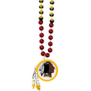 Washington Redskins Pendant Bead Necklace
