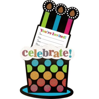 Party On Celebration Invitations 8ct