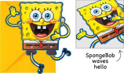 Party SpongeBob Squarepants Invitations 8ct