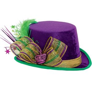 Fabric Mardi Gras Top Hat