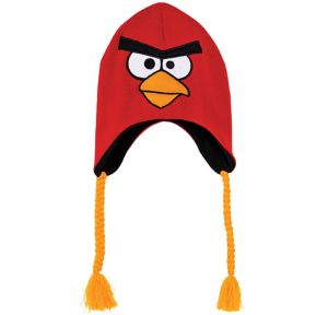 Red Angry Birds Peruvian Hat