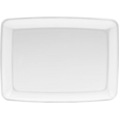 White Rectangular Plastic Platter
