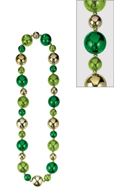 Giant St. Patrick's Day Bead Necklace