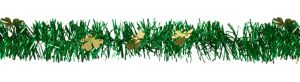 Gold & Green Tinsel Garland