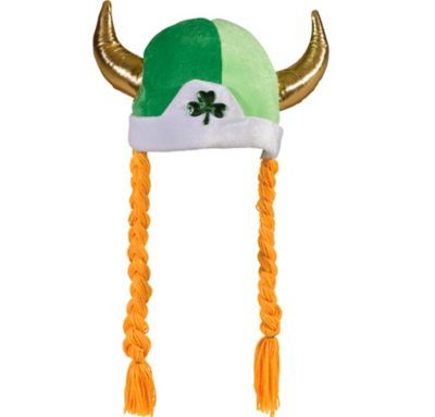 Shamrock Viking Hat with Braids
