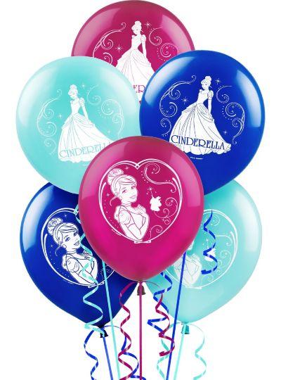 Cinderella Balloons 6ct