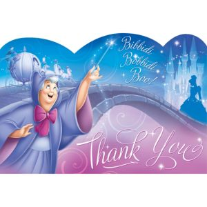 Cinderella Thank You Notes 8ct