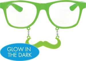 Glow in the Dark Green Handlebar Sun-Stache