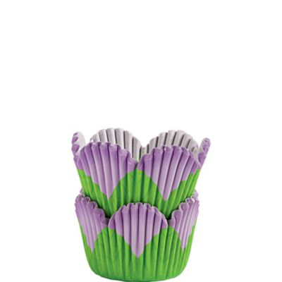 Mini Lavender Petal Baking Cups 48ct