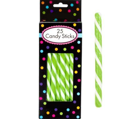 Kiwi Green Candy Sticks 25pc