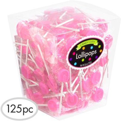 Light Pink Lollipops 125pc
