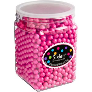 Bright Pink Chocolate Sixlets 1330pc