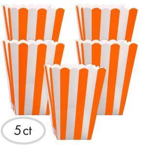 Orange Popcorn Favor Boxes 5ct