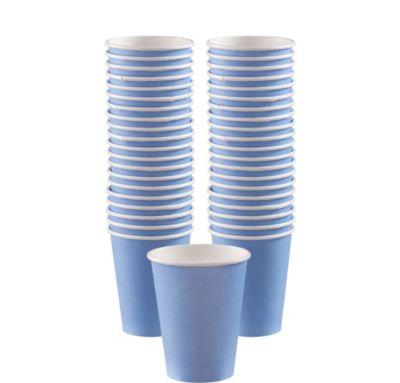 BOGO Pastel Blue Paper Coffee Cups 12oz 40ct