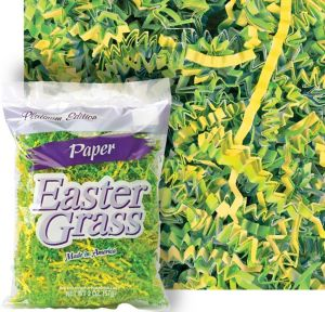 Yellow & Green Paper Easter Grass