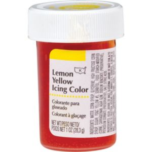 Lemon Yellow Icing Color
