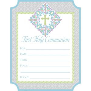 First Communion Invitations 20ct