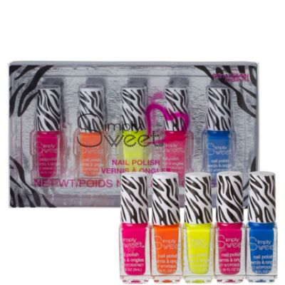 Zebra Neon Nail Polish Set 5ct
