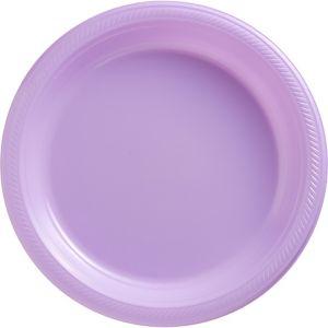 Lavender Plastic Dinner Plates 20ct