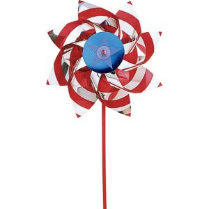 Patriotic Red, White & Blue Pinwheel