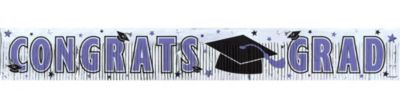 Purple Foil Fringe Graduation Banner