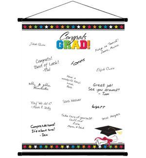 Multicolor Graduation Autograph Scroll