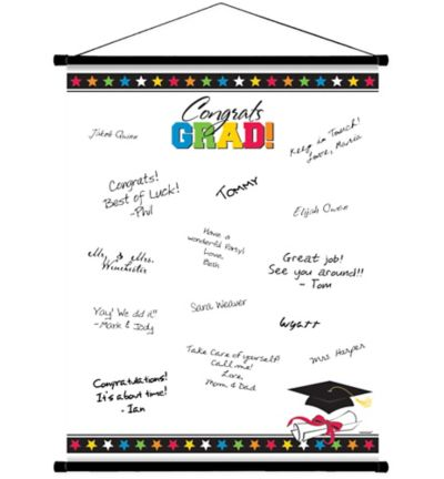 Multicolor Graduation Autograph Scroll