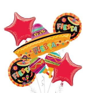 Fiesta Balloon Bouquet 5pc