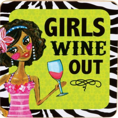 Girls Wine Out Coaster