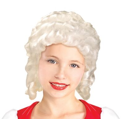Child Colonial Girl Wig