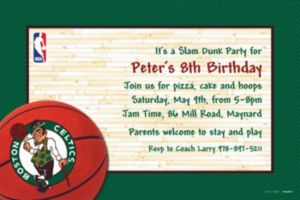 Custom Boston Celtics Invitations