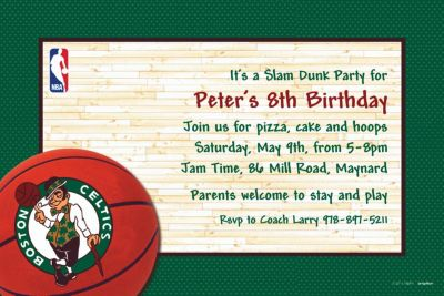 Boston Celtics Custom Invitation