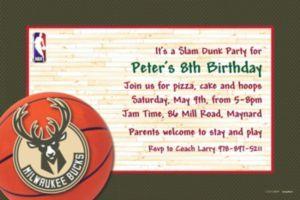 Custom Milwaukee Bucks Invitations