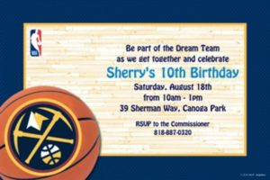 Custom Denver Nuggets Invitations