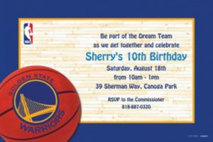 Custom Golden State Warriors Invitations
