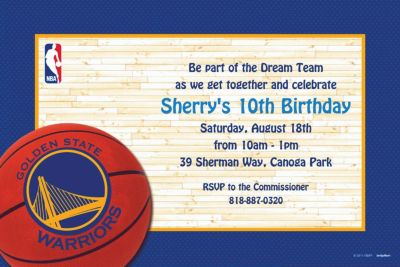 Golden State Warriors Custom Invitation