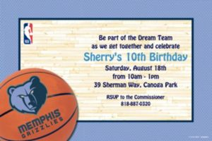 Custom Memphis Grizzlies Invitations