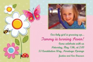 Custom Garden Girl Photo Invitations