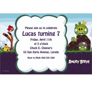 Custom Angry Birds Invitations