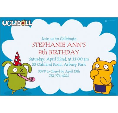 Custom Uglydoll Invitations