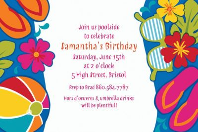 Custom Summer Splash Invitations
