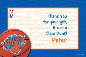 Custom New York Knicks Thank You Notes
