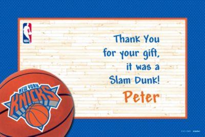 New York Knicks Custom Thank You Note