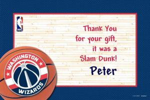 Custom Washington Wizards Thank You Notes