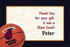 Custom Miami Heat Thank You Notes