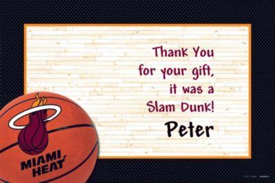 Miami Heat Custom Thank You Note
